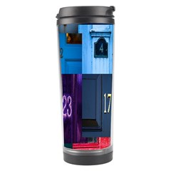 Door Number Pattern Travel Tumbler by Amaryn4rt