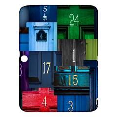 Door Number Pattern Samsung Galaxy Tab 3 (10 1 ) P5200 Hardshell Case  by Amaryn4rt