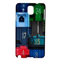 Door Number Pattern Samsung Galaxy Note 3 N9005 Hardshell Case by Amaryn4rt