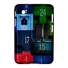Door Number Pattern Samsung Galaxy Tab 2 (7 ) P3100 Hardshell Case  by Amaryn4rt