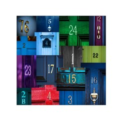 Door Number Pattern Small Satin Scarf (square) by Amaryn4rt
