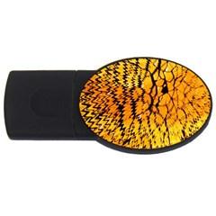 Yellow Chevron Zigzag Pattern Usb Flash Drive Oval (2 Gb) by Amaryn4rt