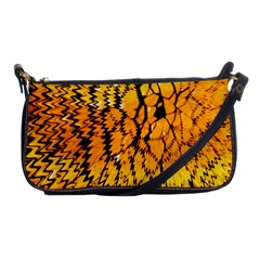 Yellow Chevron Zigzag Pattern Shoulder Clutch Bags by Amaryn4rt