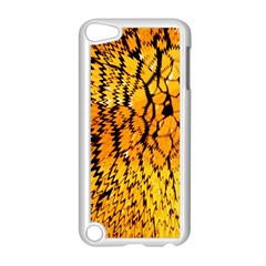 Yellow Chevron Zigzag Pattern Apple Ipod Touch 5 Case (white) by Amaryn4rt