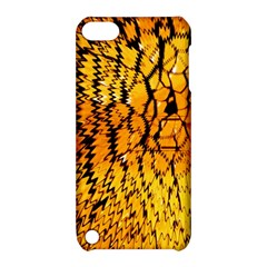 Yellow Chevron Zigzag Pattern Apple Ipod Touch 5 Hardshell Case With Stand