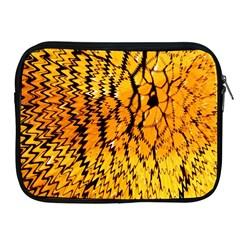 Yellow Chevron Zigzag Pattern Apple Ipad 2/3/4 Zipper Cases by Amaryn4rt