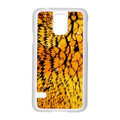 Yellow Chevron Zigzag Pattern Samsung Galaxy S5 Case (white) by Amaryn4rt