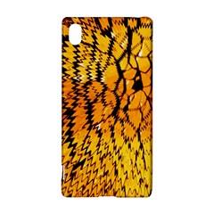 Yellow Chevron Zigzag Pattern Sony Xperia Z3+ by Amaryn4rt