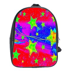 Red Background With A Stars School Bags (xl)  by Amaryn4rt