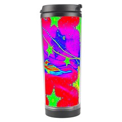 Red Background With A Stars Travel Tumbler by Amaryn4rt