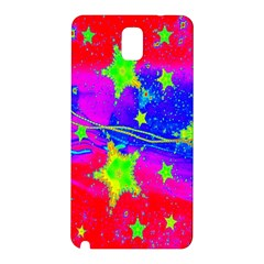 Red Background With A Stars Samsung Galaxy Note 3 N9005 Hardshell Back Case by Amaryn4rt