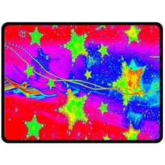 Red Background With A Stars Double Sided Fleece Blanket (large)  by Amaryn4rt