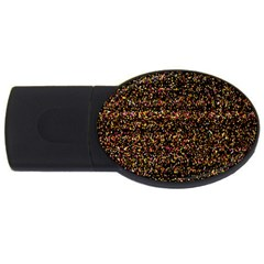 Colorful And Glowing Pixelated Pattern Usb Flash Drive Oval (2 Gb) by Amaryn4rt