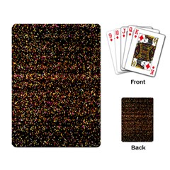 Colorful And Glowing Pixelated Pattern Playing Card by Amaryn4rt