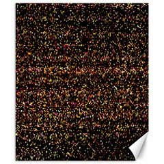 Colorful And Glowing Pixelated Pattern Canvas 8  X 10  by Amaryn4rt