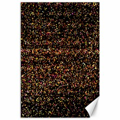 Colorful And Glowing Pixelated Pattern Canvas 12  X 18   by Amaryn4rt