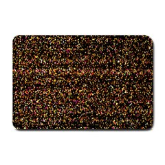 Colorful And Glowing Pixelated Pattern Small Doormat  by Amaryn4rt