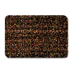 Colorful And Glowing Pixelated Pattern Plate Mats by Amaryn4rt