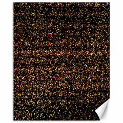 Colorful And Glowing Pixelated Pattern Canvas 11  X 14   by Amaryn4rt