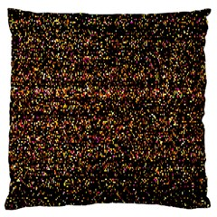 Colorful And Glowing Pixelated Pattern Large Cushion Case (one Side) by Amaryn4rt