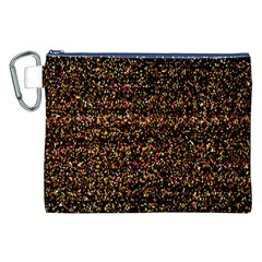Colorful And Glowing Pixelated Pattern Canvas Cosmetic Bag (xxl) by Amaryn4rt