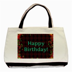 Happy Birthday To You! Basic Tote Bag by Amaryn4rt