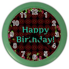 Happy Birthday To You! Color Wall Clocks by Amaryn4rt