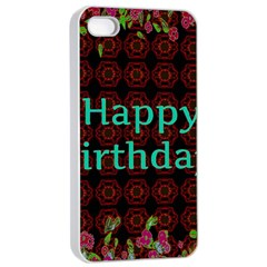 Happy Birthday To You! Apple Iphone 4/4s Seamless Case (white) by Amaryn4rt