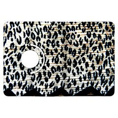 Tiger Background Fabric Animal Motifs Kindle Fire Hdx Flip 360 Case by Amaryn4rt