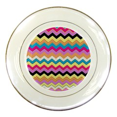 Chevrons Pattern Art Background Porcelain Plates by Amaryn4rt