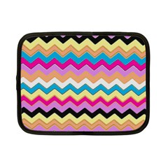 Chevrons Pattern Art Background Netbook Case (small)  by Amaryn4rt