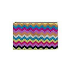 Chevrons Pattern Art Background Cosmetic Bag (small)  by Amaryn4rt