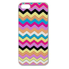 Chevrons Pattern Art Background Apple Seamless Iphone 5 Case (clear) by Amaryn4rt