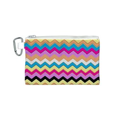 Chevrons Pattern Art Background Canvas Cosmetic Bag (s) by Amaryn4rt