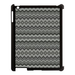 Greyscale Zig Zag Apple Ipad 3/4 Case (black) by Amaryn4rt