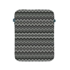 Greyscale Zig Zag Apple Ipad 2/3/4 Protective Soft Cases by Amaryn4rt