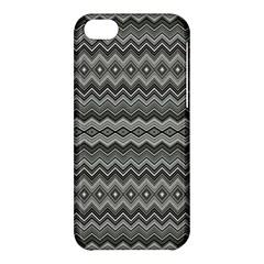 Greyscale Zig Zag Apple Iphone 5c Hardshell Case by Amaryn4rt