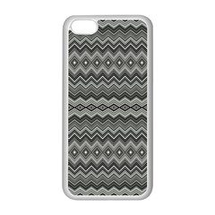 Greyscale Zig Zag Apple Iphone 5c Seamless Case (white) by Amaryn4rt