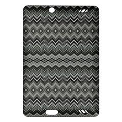 Greyscale Zig Zag Amazon Kindle Fire Hd (2013) Hardshell Case by Amaryn4rt