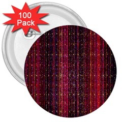 Colorful And Glowing Pixelated Pixel Pattern 3  Buttons (100 Pack)  by Amaryn4rt