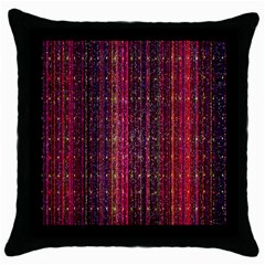 Colorful And Glowing Pixelated Pixel Pattern Throw Pillow Case (black) by Amaryn4rt