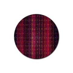 Colorful And Glowing Pixelated Pixel Pattern Rubber Coaster (round)
