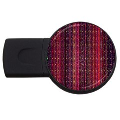 Colorful And Glowing Pixelated Pixel Pattern Usb Flash Drive Round (2 Gb) by Amaryn4rt