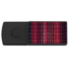Colorful And Glowing Pixelated Pixel Pattern Usb Flash Drive Rectangular (4 Gb) by Amaryn4rt