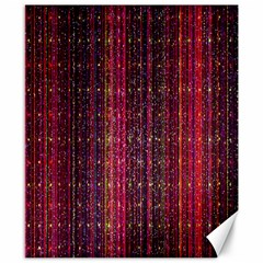 Colorful And Glowing Pixelated Pixel Pattern Canvas 8  X 10  by Amaryn4rt