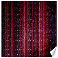Colorful And Glowing Pixelated Pixel Pattern Canvas 16  X 16   by Amaryn4rt