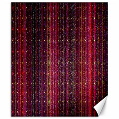 Colorful And Glowing Pixelated Pixel Pattern Canvas 20  X 24   by Amaryn4rt