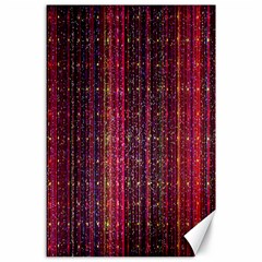 Colorful And Glowing Pixelated Pixel Pattern Canvas 24  X 36  by Amaryn4rt