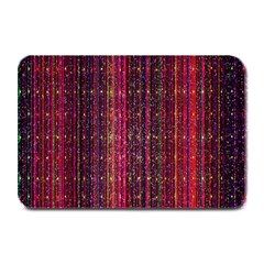Colorful And Glowing Pixelated Pixel Pattern Plate Mats by Amaryn4rt