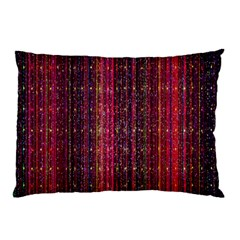 Colorful And Glowing Pixelated Pixel Pattern Pillow Case by Amaryn4rt